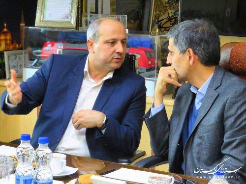 دیدار استاندار گلستان با مديرعامل راه آهن جمهوري اسلامي ايران