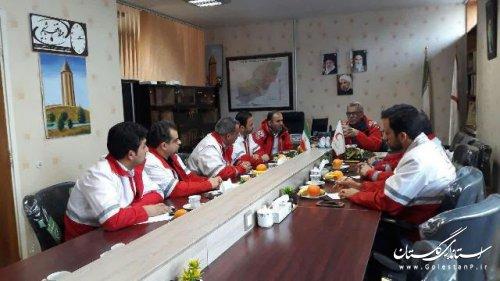 نشست هماهنگی سفر ریاست جمهوری با حضور مدیرعامل جمعیت هلال احمر گلستان برگزار شد