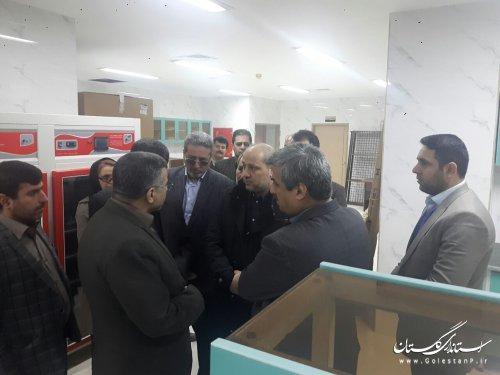 بازدید استاندار گلستان و معاون وزارت بهداشت از بیمارستان ۵آذر گرگان