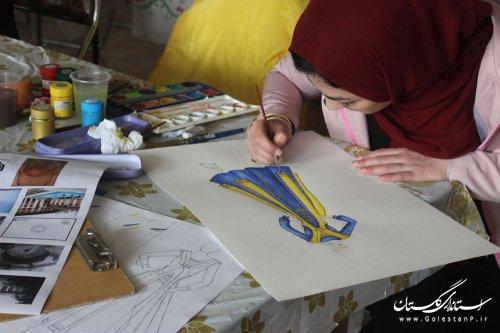 حضور پرشور طراحان در دومین مسابقه طراحی زنده لباس استان گلستان