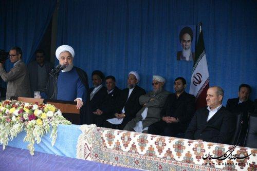 دکتر روحانی :گلستان، استان وحدت اقوام و مذاهب و گلستان ایران زمین است