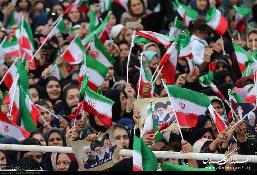 خوشامدگویی مردم استان گلستان به رییس جمهور