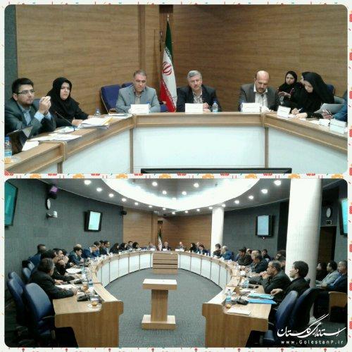 هشتمين جلسه كارگروه امور زير بنايي و شهرسازي گلستان برگزارشد