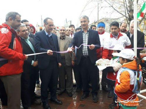 نمایشگاه توانمندی های جمعیت هلال احمر گلستان در گنبد کاووس افتتاح شد