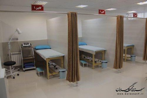 راه اندازی مرکز فیزیوتراپی جمعیت هلال احمر در مینودشت