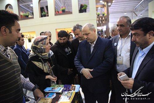 بازدید استاندار گلستان از بخش نمایشگاهی استان در نمایشگاه بین المللی گردشگری تهران