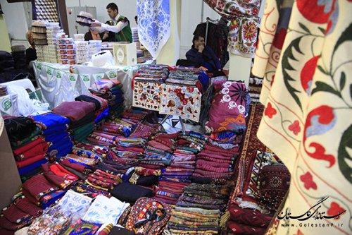حضور فعال هنرمندان صنایع دستی استان گلستان در نمایشگاه بین المللی گردشگری تهران
