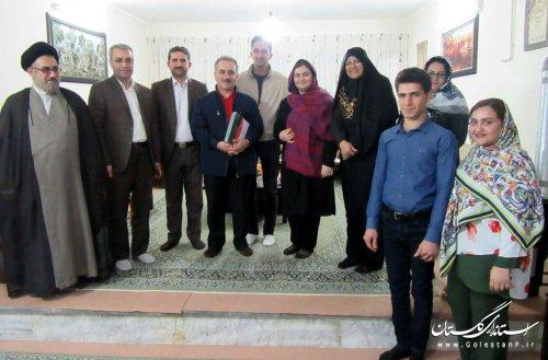 دیدار مدیرکل فرهنگ و ارشاد اسلامی استان گلستان با هنرمند پیشکسوت علی آبادی
