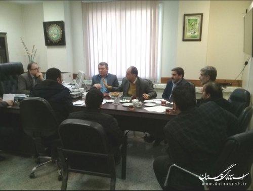 جلسه بررسی نحوه اجرایی شدن نیروگاه 25 مگاواتی شهرستان آق قلا