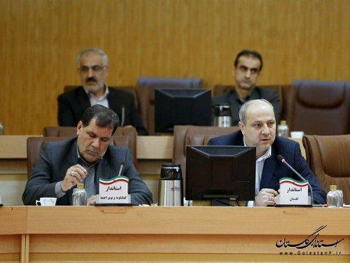 حضور استاندار گلستان در نشست استانداران سراسر کشور با چهار عضو اقتصادی دولت