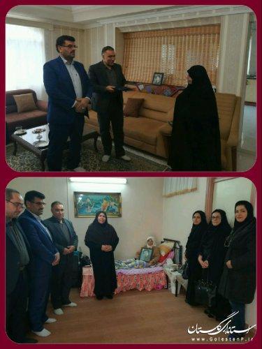 ديدار مديركل راه و شهرسازي گلستان با مادران شهید