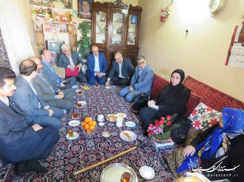 دیدار مدیرعامل، معاونین و اعضای هیئت مدیره شرکت آب منطقه ای گلستان با خانواده شهداء