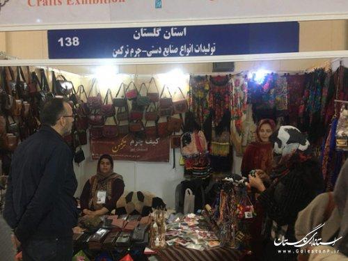 حضور هنرمندان گلستانی در سی و یکمین نمایشگاه ملی صنایع دستی(عیدانه) در تهران