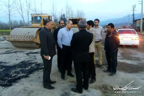 بازدید استاندار گلستان از زیرگذر یساقی