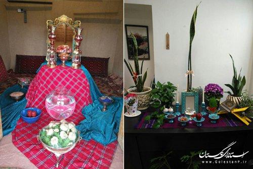 برپایی سفره هفت سین در اماکن فرهنگی– تاریخی و نوروزگاه های استان گلستان