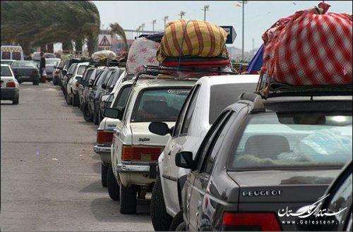 در سومین روز از بهار بیشترین خودرو ورودی به گلستان از محور گلوگاه