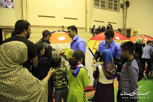 توزیع 3000 نسخه پازل معرفی جاذبه های گردشگری گلستان بین کودکان سیلزده استان