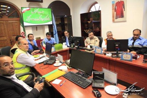 جلسه دبیر ستاد اجرایی خدمات سفر استان گلستان از طریق ویدئو کنفرانس با ستاد مرکزی برگزار شد