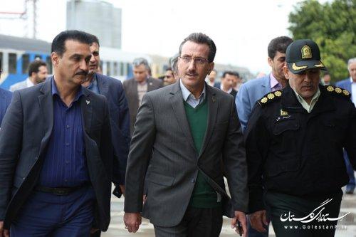 معاون وزیر و مدیرعامل راه آهن ج.ا.ا و هیات همراه به استان گلستان ومناطق سیل زده سفر کردند