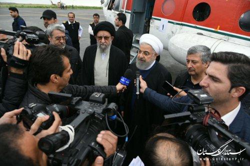 دکتر روحانی پس از بازدید از مناطق سیل زده استان گلستان: دولت رسیدگی به مشکلات مردم را وظیفه خود می داند