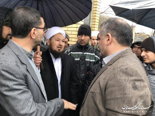 بسیج کلیه امکانات اداره کل امور اتباع و مهاجرین خارجی استان در امداد رسانی به سیل زدگان پناهنده در استان گلستان