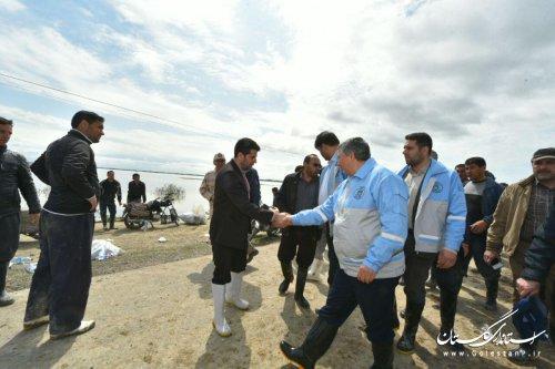 بازدید سرپرست استانداری گلستان از رودخانه قره سو در کردکوی و جاده خواجه نفس به گمیشان