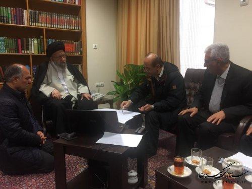 دیدار مدیر عامل آب منطقه ای گلستان با نماینده ولی فقیه در استان و ارائه گزارشی از روند کنترل سیلاب