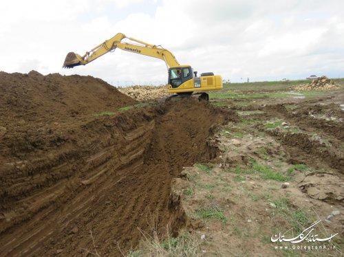 اقدامات  موثر آب منطقه ای گلستان در انحراف آب گرگانرود به سمت شمال قبل از رسیدن به آق قلا