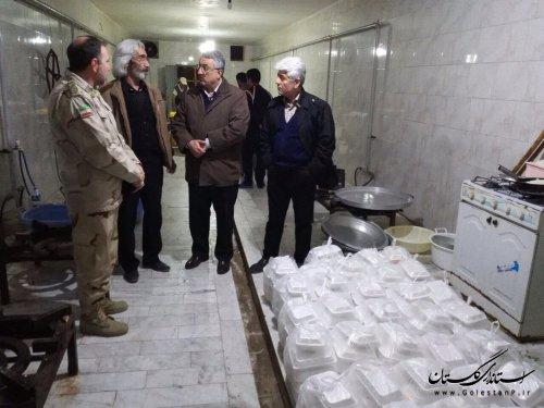 طبخ و توزیع ۲ هزار پرس غذای گرم در مناطق سیل زده گلستان