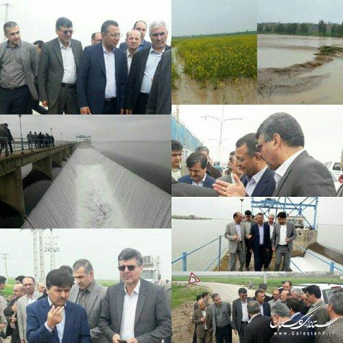 بازدید رییس، نائب رییس و اعضای کمیسیون کشاورزی، آب و منابع طبیعی از مناطق سیل زده استان گلستان