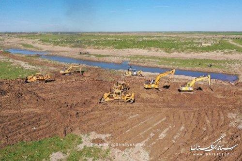 پیشرفت 90 درصدی احداث  کانال سیلاب بر دیگچه