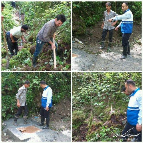 بهره مندی بیش از4000 نفر با بهسازی 2 دهنه چشمه مجتمع آبرسانی کردکوی