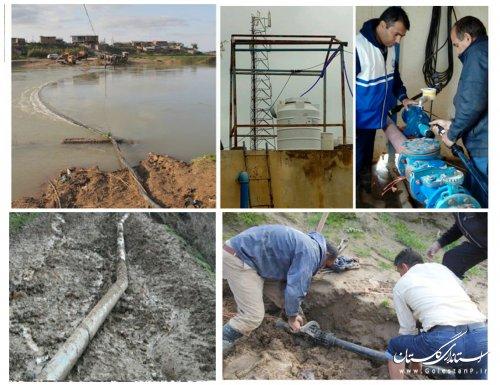 نگهداری و تعمیرتاسیسات آبرسانی شهرستان آق قلا در فروردین 2 میلیارد ریال هزینه داشت