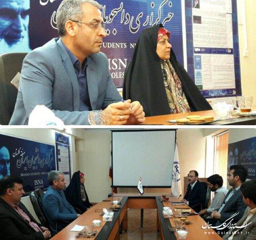 بازدید مدیرکل فرهنگ و ارشاد اسلامی گلستان از دفتر خبرگزاری ایسنا(گلستان)