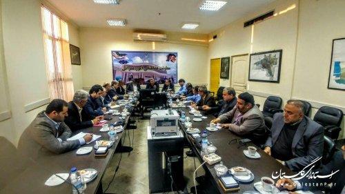 نشست فرمانداران سراسر استان با سرپرست استانداری گلستان