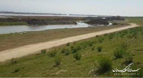 خروج حدود 10 تا 15متر مکعب در ثانیه آب از شمال آق قلا