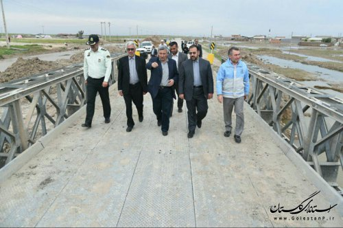 معاون پارلمانی رئیس جمهور از مناطق سیل زده شهرستان آق قلا بازدید کرد