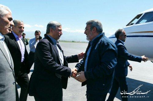 وزیر کشور وارد استان گلستان شد