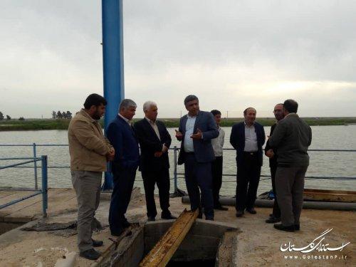 بازدید معاون حفاظت و بهره برداری شرکت مدیریت منابع آب ایران از مناطق سیل زده گلستان