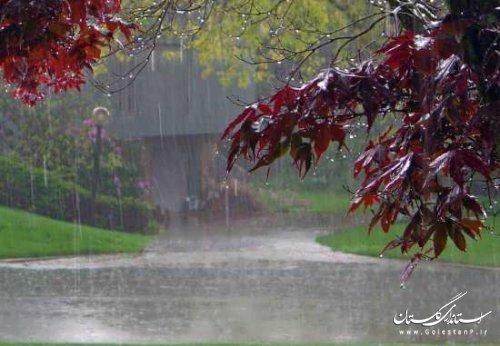 افزایش 75 درصدی بارش های گلستان نسبت به بلند مدت