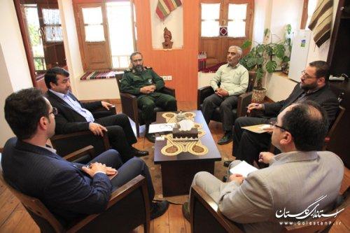 نشست مدیرکل میراث فرهنگی گلستان و مدیرکل حفظ آثار و نشر ارزشهای دفاع مقدس استان