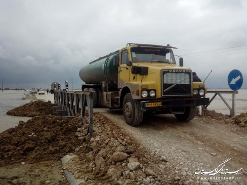 بازگشایی کلیه راههای مناطق سیل زده توسط راهداران گلستان