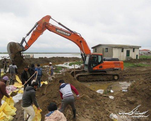 اجرای  29 هزار  متر دایک حفاظتی جهت مدیریت سیلاب اخیر