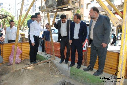 بازدید نماینده مردم شریف گرگان و آق قلا از پروژه های آب و فاضلاب شهر گرگان