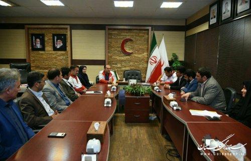 دیدار اعضای شورای هماهنگی روابط عمومی استان با روابط عمومی جمعیت هلال احمر