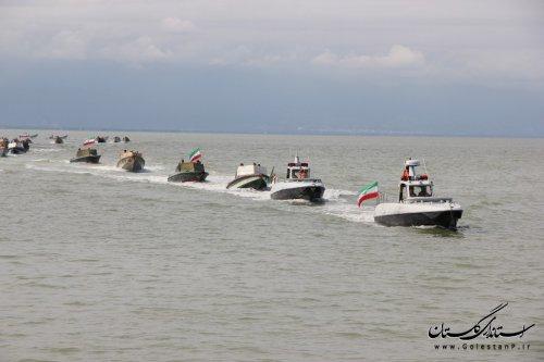 اجرای عملیات دریایی توسط نیروهای یگان حفاظت شیلات گلستان