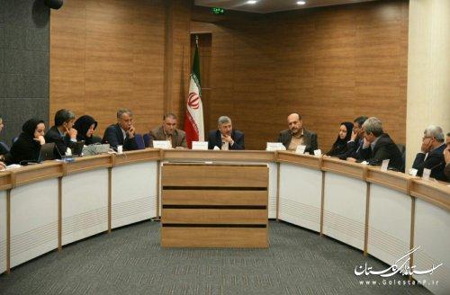 اولین جلسه كارگروه امور زير بنايي و شهرسازي گلستان برگزار شد