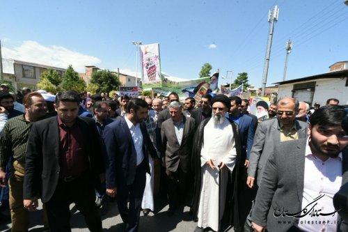 پیام تقدیر سرپرست استانداری گلستان از حضور با صلابت مردم در راهپیمایی روز جهانی قدس