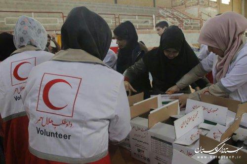 توزیع ۵ هزار و ۵۰۰ بسته غذایی میان سیل زدگان گلستان در ماه رمضان