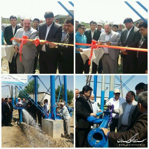 مخزن هوایی 100 مترمكعبی فلزی هوایی روستای یلمه خندان شهرستان آق قلا افتتاح شد